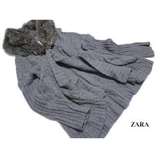 ザラ(ZARA)の◆ZARA/ザラ◆ レディースM 首元ボリュームファーニット (ガウンコート)