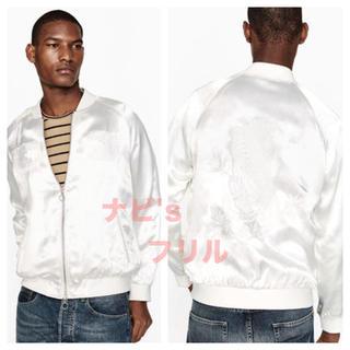 ザラ(ZARA)の新品 ZARA MAN 虎 刺繍 シルク調 スカジャン ジャケット ブルゾン(スカジャン)