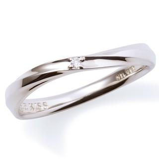 ザキッス(THE KISS)の【新古品】THE KISS シルバーリング メンズ #17 ダイヤモンド(リング(指輪))