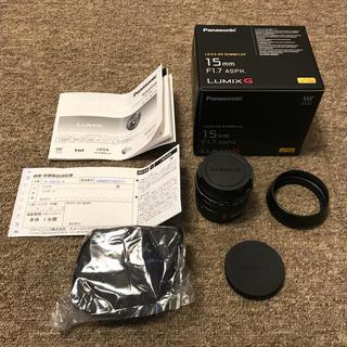 パナソニック(Panasonic)のLEICA DG SUMMILUX 15mm F1.7 LUMIX パナソニック(レンズ(単焦点))