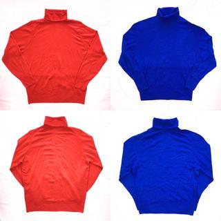 イエーガー(JAEGER)のJAEGER タートルネックセーター セット 赤 青 ニット イエーガー(ニット/セーター)