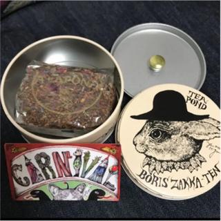 ボリス雑貨店 ヒグチユウコ  紅茶缶  兎(茶)