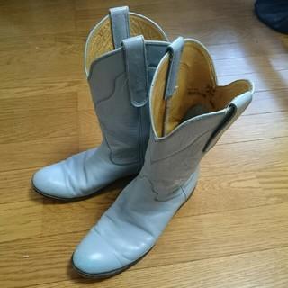 トニーラマ(Tony Lama)のTonyLamaのウエスタンブーツ水色61/2(ブーツ)