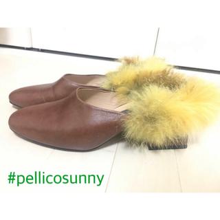 ペリーコ(PELLICO)の【値下げ】PELLICO Sunny ペリーコサニー ファー ミュール 36(ミュール)