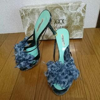 セヴントゥエルヴサーティ(VII XII XXX)のVII XⅡ XXX ヒョウ柄シフォンサンダル 37 ドレス パーティー ブーツ(サンダル)