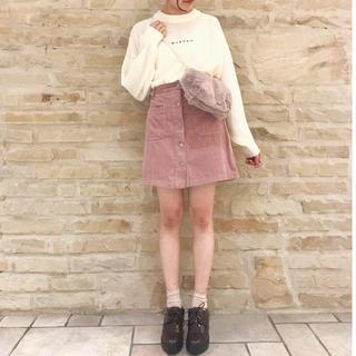 エージープラス(a.g.plus)の新品未使用 フロント釦台形スカート(ミニスカート)