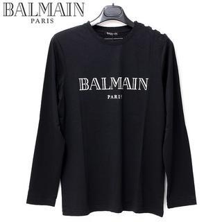 バルマン(BALMAIN)の5 BALMAIN ショルダーボタンシルバーロゴ長袖 ロンTsize L(Tシャツ/カットソー(七分/長袖))