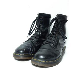 ドクターマーチン(Dr.Martens)の激安!英国製!旧タグ!ドクターマーチン8ホールUK3イングランド黒ブラック(ブーツ)