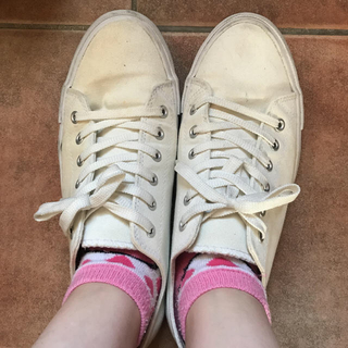 靴 スニーカー 白 紐付き シューズ バイト 学生 レディース メンズ(スニーカー)