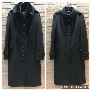 バーバリー(BURBERRY)の美品 バーバリー  ロンドン ファー付き コート 日本製 高級 ロングコート(ロングコート)