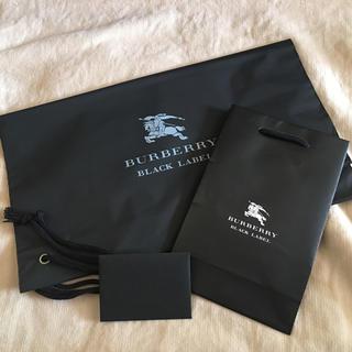 バーバリーブラックレーベル(BURBERRY BLACK LABEL)のバーバリー 袋 ショップ袋 メッセージカード(ショップ袋)