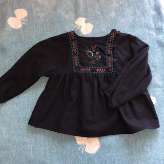 コドモビームス(こどもビームス)のボントン ブラウス 刺繍 12M (シャツ/カットソー)