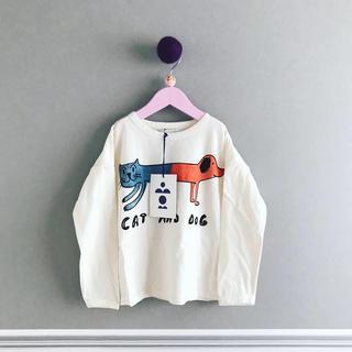ボボチョース(bobo chose)の⚫︎BOBO CHOSES⚫︎ cat & dog 4〜5Y(Tシャツ/カットソー)
