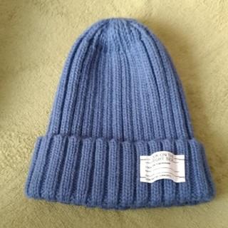 ジーユー(GU)のGU カラー ニットキャップ ブルー(ニット帽/ビーニー)