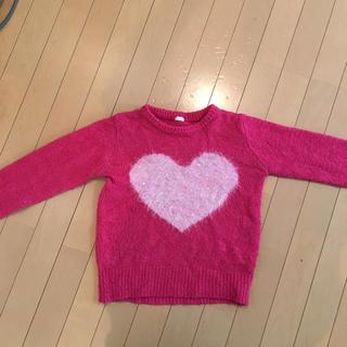 ジーユー(GU)のGUハートセーター140(ニット)