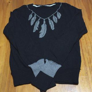 メンズメルローズ(MEN'S MELROSE)の☆美品☆   メンズメルローズ    ブラックニットセーター   (ニット/セーター)