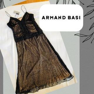 新品 タグ付き ★ アルマンドバシ:ARMAND BASI スリップ ドレス38