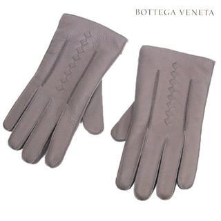 ボッテガヴェネタ(Bottega Veneta)の専用 BOTTEGA VENETAレザー/カシミヤ グレー手袋size 9(手袋)