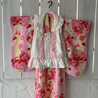 3歳 女の子 七五三 着物 被布 SEIKO MATSUDA(和服/着物)