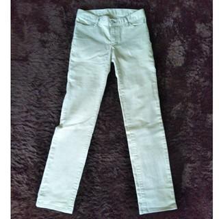 ムジルシリョウヒン(MUJI (無印良品))の未使用  無印良品 パンツ  スリム  ストレート ベージュ オフホワイト S(カジュアルパンツ)