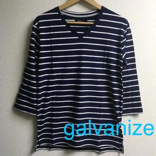 ガルヴァナイズ(Galvanize)の新品 galvanize ガルヴァナイズ ボーダー 七分袖 Tシャツ ロンT(Tシャツ/カットソー(七分/長袖))