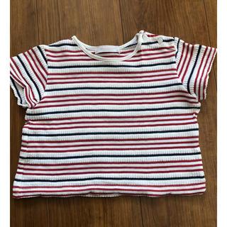 バーバリー(BURBERRY)のバーバリー  ボーダー カットソー Tシャツ  サイズ80(シャツ/カットソー)