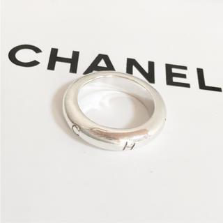 シャネル(CHANEL)の正規品 シャネル 指輪 シルバー アルファベット 銀 リング 925 ロゴ −X(リング(指輪))