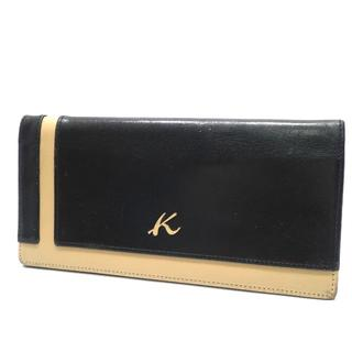 キタムラ(Kitamura)のA720 中古 Kitamura2 キタムラ2 長財布 本革 レザー ブラック(長財布)