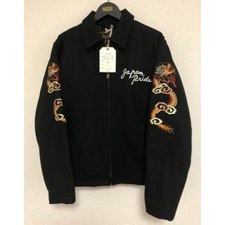 キャリー(CALEE)のCalee Melton Souvenir Jacketブラック新品未使用 L(スカジャン)