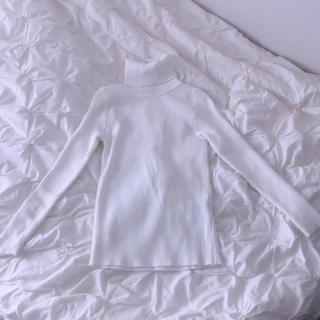 アンティックラグ(antic rag)の新品タグ付き アンティックラグ タートルネック ニット ホワイト(ニット/セーター)