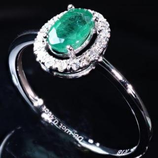 K18 エメラルド 指輪(リング(指輪))