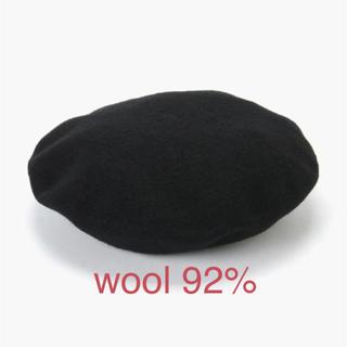 マジェスティックレゴン(MAJESTIC LEGON)の新品 定価2484円 フエルトのベレー帽 マジェスティックレゴン ブラック(ハンチング/ベレー帽)