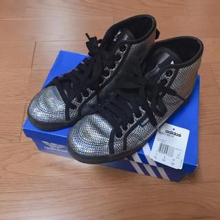 アディダス(adidas)のadidas スニーカー ハイカット シルバー(スニーカー)
