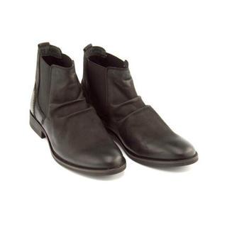ザラ(ZARA)の【最終値下】Lee ブーツ サイドゴアブーツ WACO ウェーコ ブラック(ブーツ)