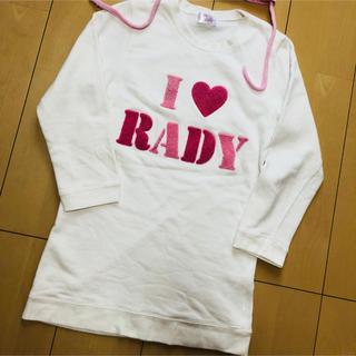 レディー(Rady)のrady ちびrady ワンピ トレーナー  ワンピース アイラブrady(ワンピース)