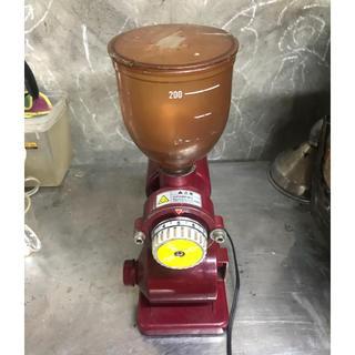 中古BONMAC コーヒーミル レッド BM-250N動作品(電動式コーヒーミル)