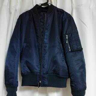 ジーユー(GU)の値下げ MA1 ジャケット GU  ネイビー メンズ(ブルゾン)