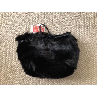 シマムラ(しまむら)の12月2日までの価格☆ファーバッグ☆ブラック(ハンドバッグ)