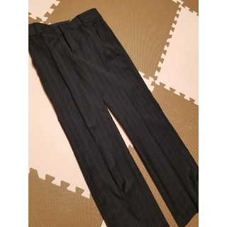 ザラ(ZARA)のZARA 今季購入 流行りのワイドパンツ Mサイズくらい ストライプ(バギーパンツ)