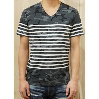 エイケイエム(AKM)の定価19440円17SS AKM カモフラボーダーTシャツ wjkジュンハシモト(シャツ)
