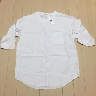 ジーユー(GU)のメンズビックフルオーバーシャツ7分袖Lサイズ(Tシャツ/カットソー(七分/長袖))