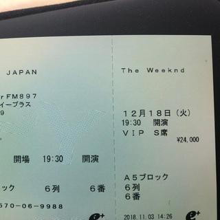 【定価以下】The Weeknd コンサートチケット(海外アーティスト)