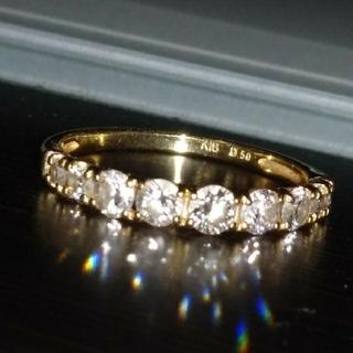❤️えり様専用❤️K18 ダイヤモンド ハーフエタニティリング(リング(指輪))