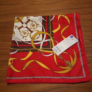 ジーユー(GU)のGU スカーフ RED 未使用(バンダナ/スカーフ)