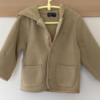 クミキョク(kumikyoku(組曲))の組曲 内側ボア コート パーカー 70 80 ベビー キッズ 女の子 子供(ジャケット/コート)