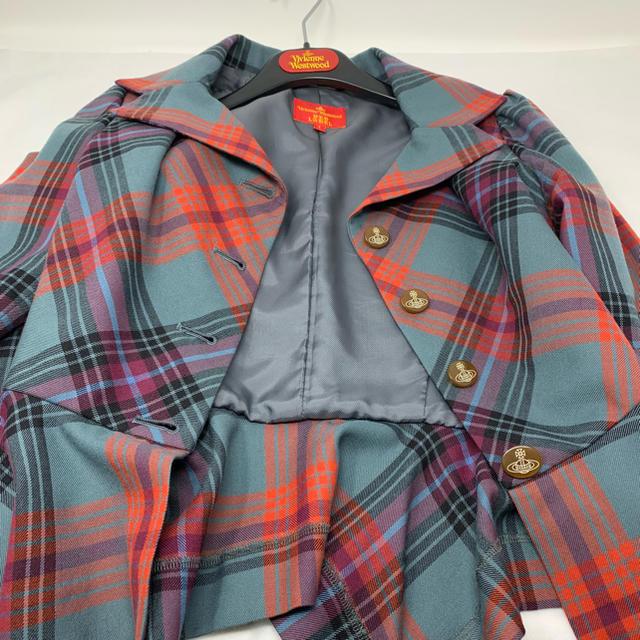 Vivienne Westwood(ヴィヴィアンウエストウッド)のVivienne Westwood  ヴィヴィアン ジャケット チェック レディースのジャケット/アウター(テーラードジャケット)の商品写真