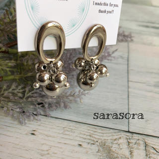 367 silver  ball earrings ピアス (ピアス)