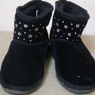 シマムラ(しまむら)の【最終値下げ】ムートンブーツ 黒 17cm(ブーツ)