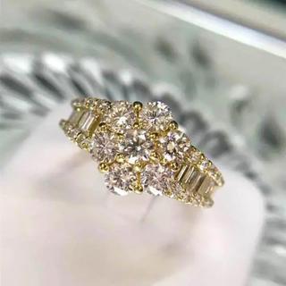 K18 ダイヤ 2.00カラット ダイヤリング 18-1143(リング(指輪))