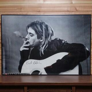 KURT COBAIN smoking & guitar ポスターフレームセット(ポスターフレーム )